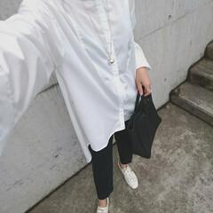 アラフォーママ/30代ファッション/30代コーデ/ママコーデ/ママファッション/young&olsen/... 少し前のコーディネートです。 学校の授業…(3枚目)