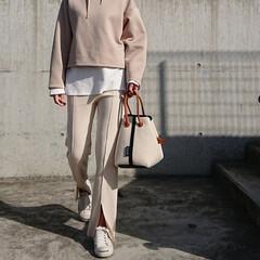 長身コーデ/30代コーデ/30代ファッション/アラフォーコーデ/アラフォーファッション/アラフォー/... この「UNIQLO」のフーディ、少し前か…(2枚目)