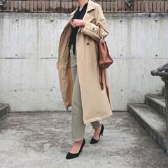 長身コーデ/ママコーデ/ママファッション/30代ファッション/30代コーデ/アラフォーコーデ/... 春はトレンチコートの出番も多くなります。…