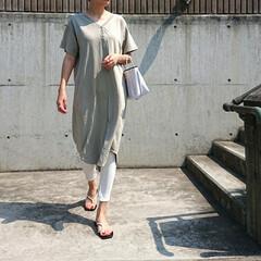 アラフォーコーデ/アラフォーファッション/長身コーデ/プチプラコーデ/シンプルコーデ/大人カジュアル/... ちょっと前のコーディネートです。 Tシャ…