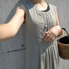 アラフォー主婦/アラフォーファッション/アラフォーコーデ/しまパト/ママコーデ/ママファッション/... 少し前のコーディネートです。 シアー素材…(2枚目)