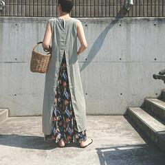 アラフォー主婦/アラフォーファッション/アラフォーコーデ/しまパト/ママコーデ/ママファッション/... 少し前のコーディネートです。 シアー素材…