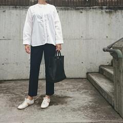 アラフォーママ/30代ファッション/30代コーデ/ママコーデ/ママファッション/young&olsen/... 少し前のコーディネートです。 学校の授業…(2枚目)