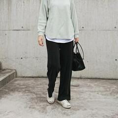 アラフォーコーデ/アラフォーファッション/アラフォーママ/ママコーデ/ママファッション/長身コーデ/... 夕方寒い時はまだまだ長袖の洋服が必要です…(2枚目)
