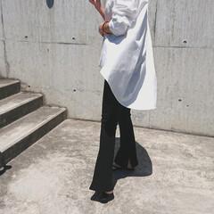 アラフォー主婦/アラフォーママ/アラフォーファッション/アラフォーコーデ/30代ファッション/30代コーデ/... ちょっと前のコーディネートです。 モノト…(2枚目)