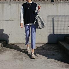 長身コーデ/30代コーデ/30代ファッション/ママコーデ/ママファッション/アラフォーコーデ/... 今季流行りのカラーパンツを取り入れたコー…