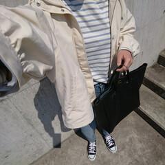 主婦/アラフォーファッション/アラフォーコーデ/アラフォーママ/アラフォー/高身長コーデ/... 暑い日もあれば少し肌寒い日もまだまだあり…