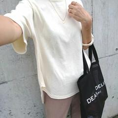 アラフォーファッション/アラフォーママ/アラフォー主婦/ママコーデ/ママファッション/トートバッグ/... 少し前のコーディネートです。 ポイントは…