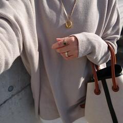 アラフォーママ/アラフォーファッション/アラフォーコーデ/30代ファッション/30代コーデ/シンプルコーデ/... 先月の写真です。 暖かい日だったので、ア…(2枚目)