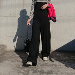 秋コーデ/アラフォーファッション/アラフォー主婦/アラフォーママ/アラフォー/30代コーデ/... 暖かいですね❗ 厚手の羽織りは要らないく…(2枚目)