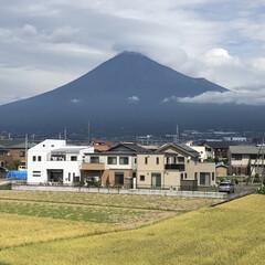 笠雲/富士山麓/富士山 こんばんは⭐️  やっと雄大な富士山🗻が…