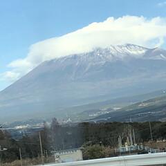 女富士/雪化粧/富士山麓/富士山 今日の富士山🗻  1.2枚目はいつもの場…(3枚目)