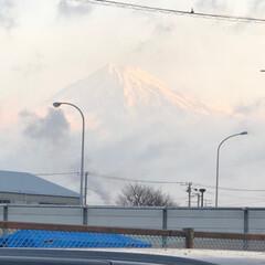 富士山 おはようございます☁️ 今朝の富士山🗻