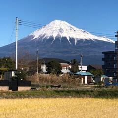 富士山 今日も良い天気☀️で綺麗で雄大な富士山🗻…