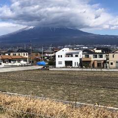 富士山 こんばんは⭐️ 今日は午後から風🌪が強か…