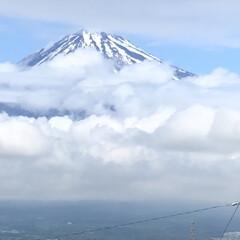 富士山麓/富士山 束の間の晴れ間☀️になり、富士山🗻もひょ…