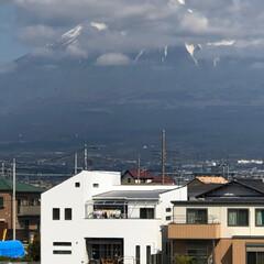 富士山 こんばんは☀️  やっと富士山🗻が顔を出…