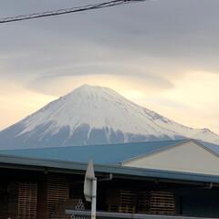 笠雲/富士山麓/富士山 おはようございます☁️  今朝の富士山🗻…
