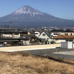 富士山/富士山麓/雪化粧/女富士 今日の富士山🗻  若干、雪❄️が減ったか…