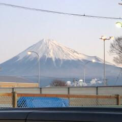富士山 おはようございます☀ 今日から週のはじま…