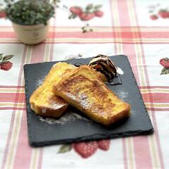 フレンチトースト/おうちごはん/おひとりさま/お昼ごはん/至福のひととき/おやつタイム/... 5月18日土曜日☁️。 先日のお昼ごはん…