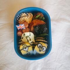 幼稚園弁当/幼稚園お弁当/お弁当のおかず&便利グッズ/セリア/100均/お弁当 今日のお弁当はミニオンのかまぼこを使って…