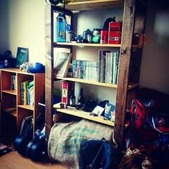 オープンシェルフ/書斎スペース/書斎/フォロー大歓迎/収納/DIY/... 物置部屋を書斎にしよう計画を実行中なので…