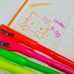 雑貨/雑貨屋/色エンピツ/色えんぴつ/色鉛筆 ハローキティ書いてみた。 使ったのはHi…