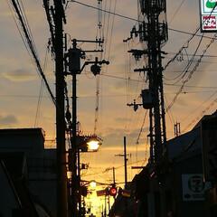 夕焼け/夕景/夕方の空 下町の夕景 なんか落ち着く