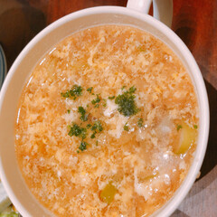 ふたりごはん/簡単レシピ/だしの素/フライドオニオン/たまごスープ かんたんスープ。フライドオニオンと、だし…