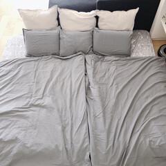 寝具/寝室雑貨/IKEA/ラク家事/購入品 来客用お布団カバーを新調。イケアで揃えま…