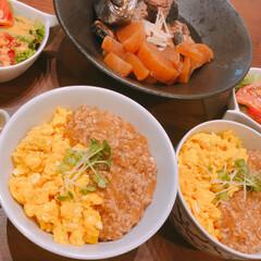 そぼろ丼/リミアな暮らし/お弁当 そぼろ丼。炒り卵は、甘め仕上げが好みです…