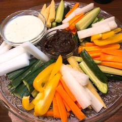 パーティー料理/野菜スティック/ブルーチーズ ブルーチーズと赤味噌ディップ!ブルーチー…