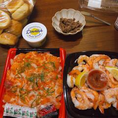 海老がすき。/コストコ購入品/おうちごはん コストコごはん。海鮮が大好き!エビが食べ…