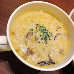 低糖質メニュー/豆乳スープ/スープ/夕ご飯/リミアな暮らし 豆乳と舞茸のスープ。きのこたっぷりをオリ…