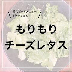 クレイジー/かんたんレシピ/パルメザンチーズ かんたん!もりもり食べれるチーズレタスサ…