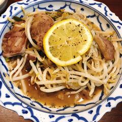味の素 丸鶏がらスープ 55g瓶×10個入× | 味の素(だし、ブイヨン、がらスープ)を使ったクチコミ「豚タンの塩レモン炒め。スーパーで安く買え…」(1枚目)