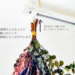 ライティングレール/ダクトレール/ドライフラワー/インテリア/花/購入品 ドライフラワーを飾りました。ライトの周り…(5枚目)