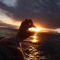 日の入り/江ノ島/湘南/海/おでかけワンショット 息をのむほど美しい日の入り