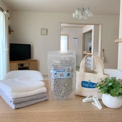 ハッピーマグ 高純度マグネシウム粒 300g(浴室洗剤)を使ったクチコミ「雨の日の室内干しにはマグネシウム洗濯がお…」