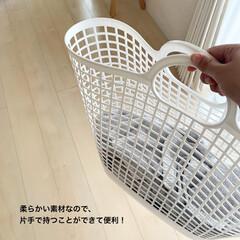 ライクイット タウンバスケットビッグ幅48x奥24x高52 ホワイト日本製 LBB-17C   アズユーライクイット(洗濯ネット)を使ったクチコミ「ランドリーバスケットはlike-itの「…」(3枚目)