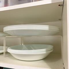 Pコレールウインターフロスト 大皿 CP‐8910 | コレール(皿)を使ったクチコミ「シンプルで日常使いにぴったりなコレールの…」(2枚目)