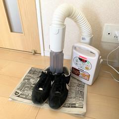 アイリスオーヤマ ふとん乾燥機 カラリエ | アイリスオーヤマ(布団乾燥機)を使ったクチコミ「アイリスオーヤマの布団乾燥機は靴の乾燥も…」