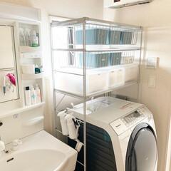 tidy Sフック 3個入り S字フック おしゃれ 外れにくい フック 引っ掛ける 掛ける収納 s字フック | テラモト(フック)を使ったクチコミ「洗濯機上のデッドスペースを活用するために…」