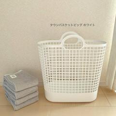 ライクイット タウンバスケットビッグ幅48x奥24x高52 ホワイト日本製 LBB-17C   アズユーライクイット(洗濯ネット)を使ったクチコミ「ランドリーバスケットはlike-itの「…」(2枚目)