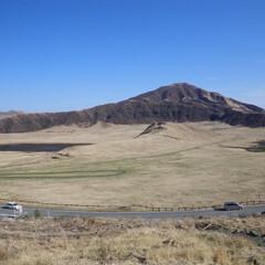 阿蘇/おでかけワンショット 数年前の写真ですが・・・ 阿蘇の山はきれ…