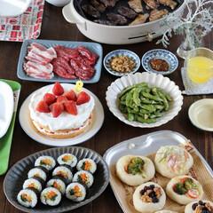 誕生日/誕生日会/お祝いごはん/おうちカフェ/おうちごはん/男の子ママ/... 週末は子供の誕生日会を開催。 リクエスト…