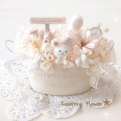 手作り/ハンドメイド雑貨/ホワイト雑貨/インテリア雑貨/お花/フラワーアレンジメント