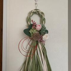 しめ縄飾り/プリザーブドフラワー/ハンドメイド お正月飾りのプリザーブドフラワーレッスン…