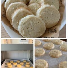 お菓子作り/手作りクッキー/アーモンドバタークッキー 今日は久々にクッキーを焼きました!